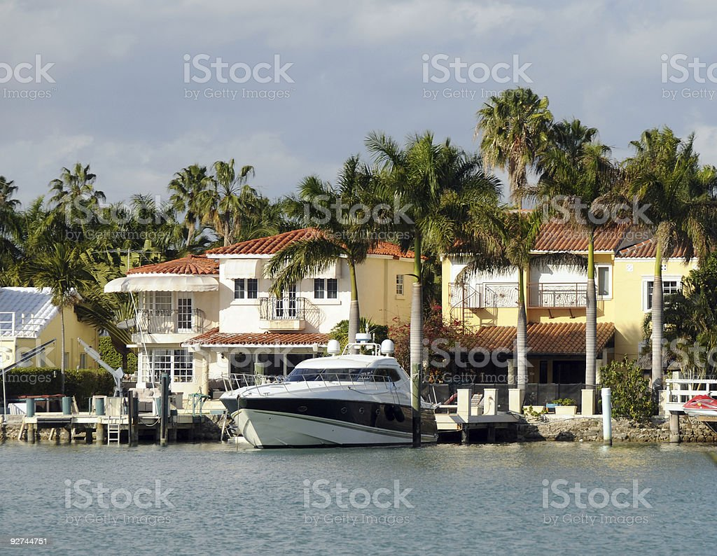 Luxury waterfront home royalty-free stock photo