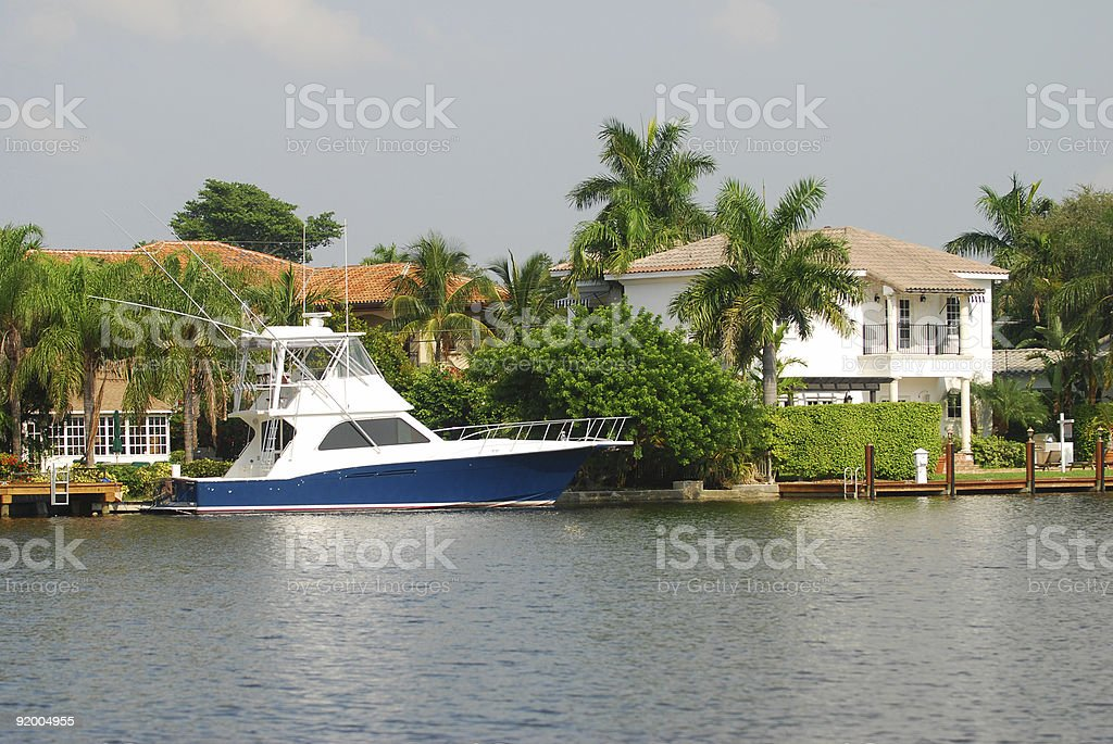 Luxury waterfront homes royalty-free stock photo