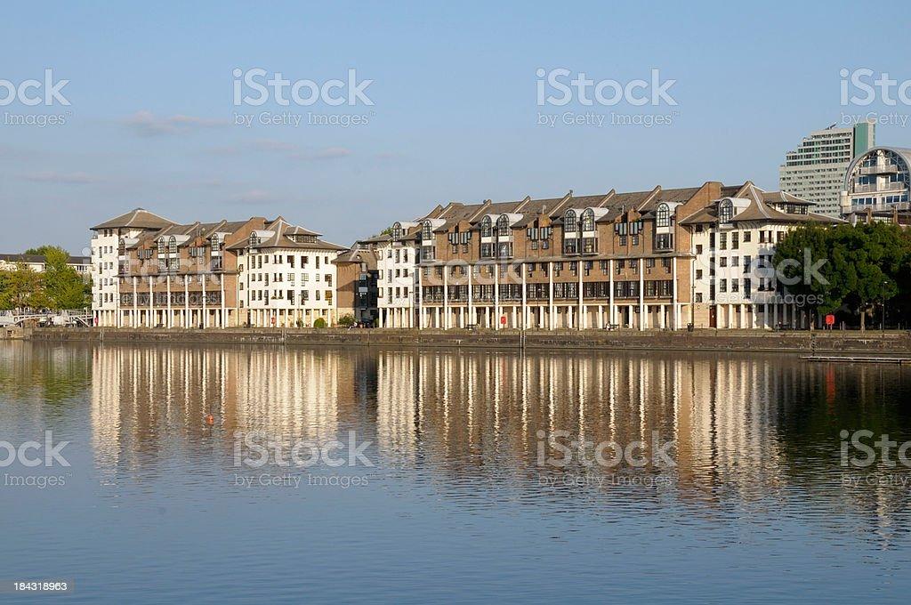 Luxury Waterside Apartments royalty-free stock photo