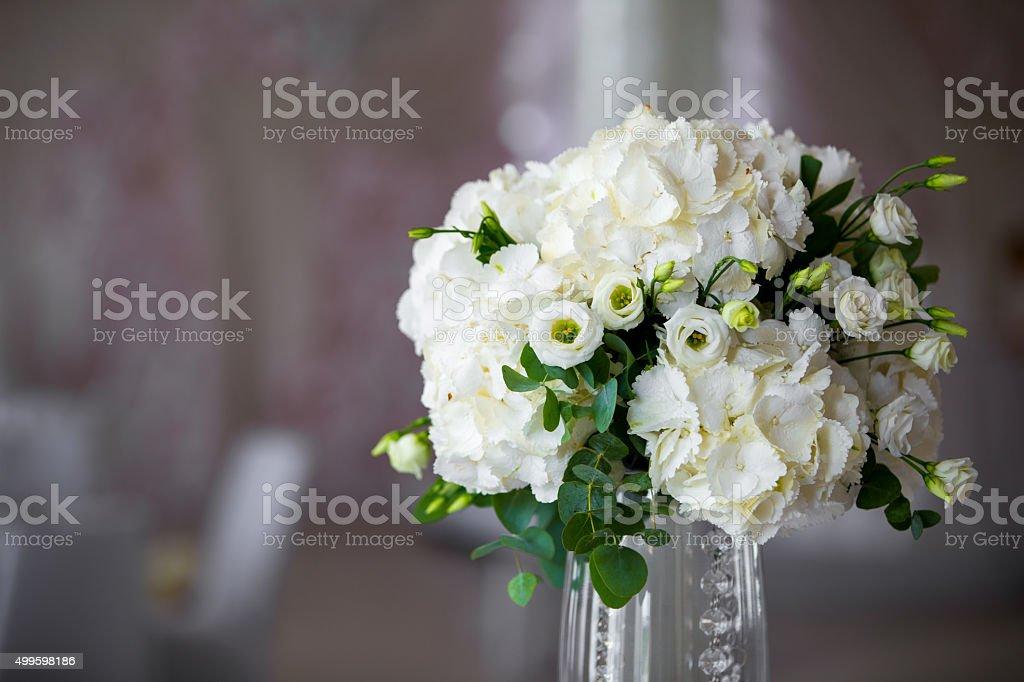 luxury wedding flower arrangement stock photo