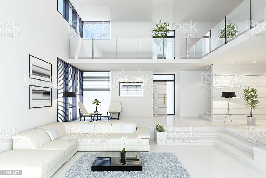 Luxury White Villa stock photo