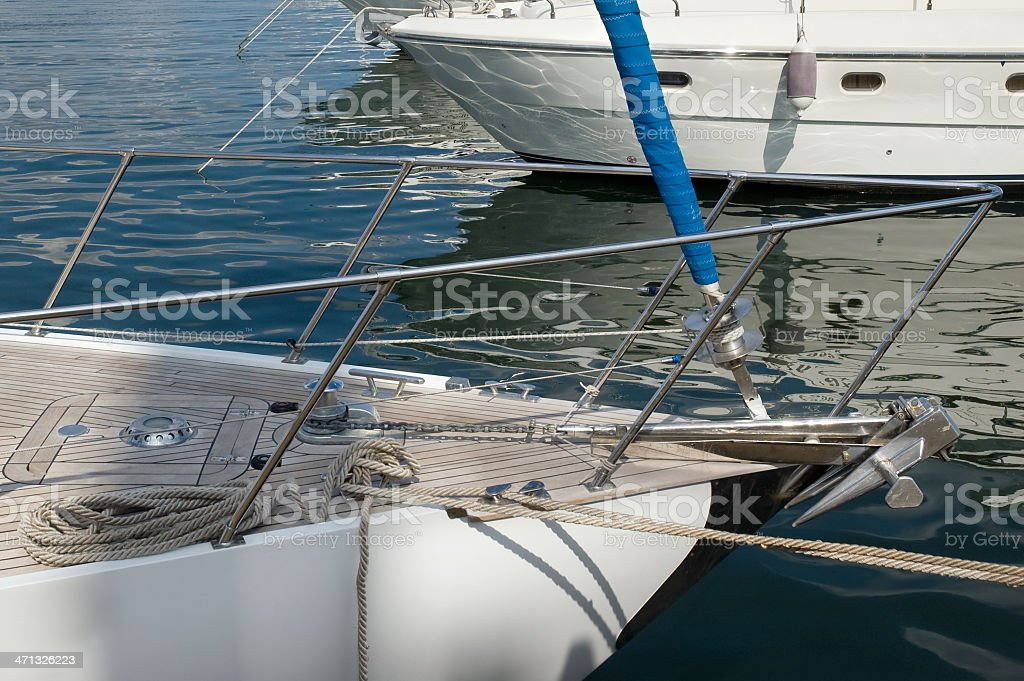 Luxury white yacht royalty-free stock photo