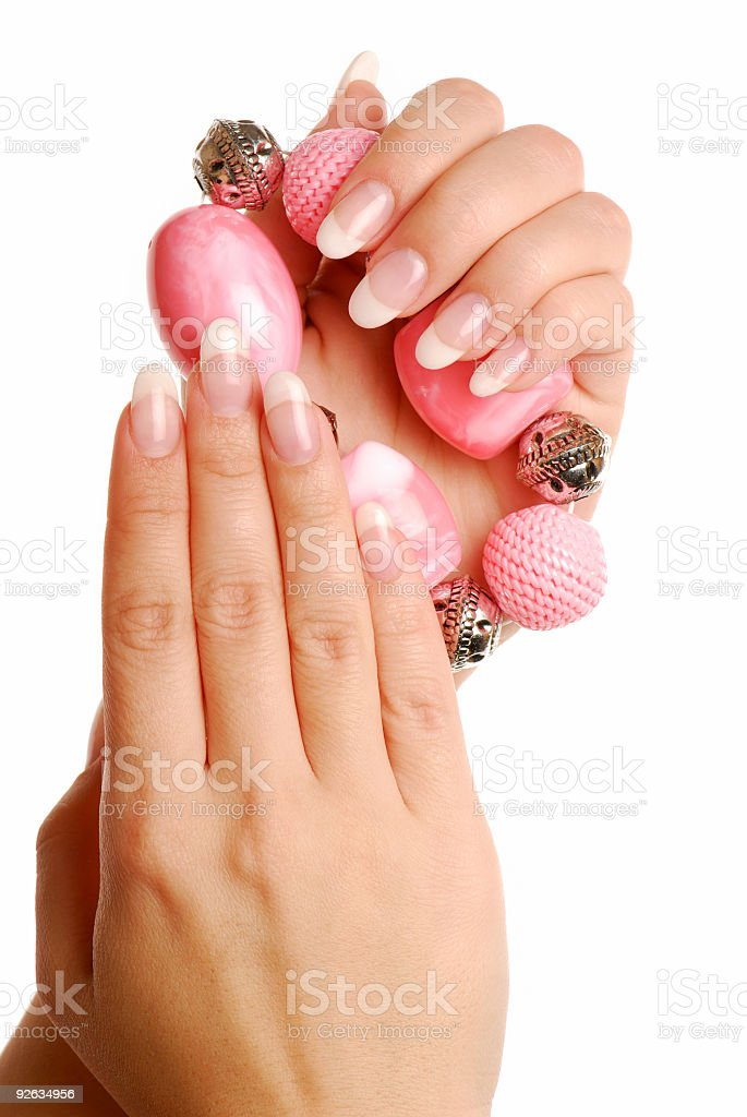Luxury woman fingers and nails royalty-free stock photo