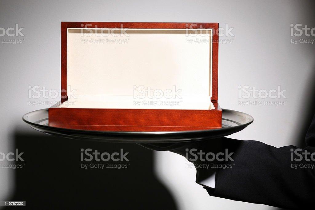 Luxury Wooden Gift Box royalty-free stock photo