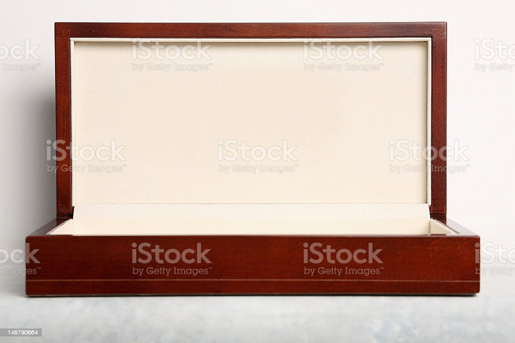 Luxury Wooden Gift Box stock photo