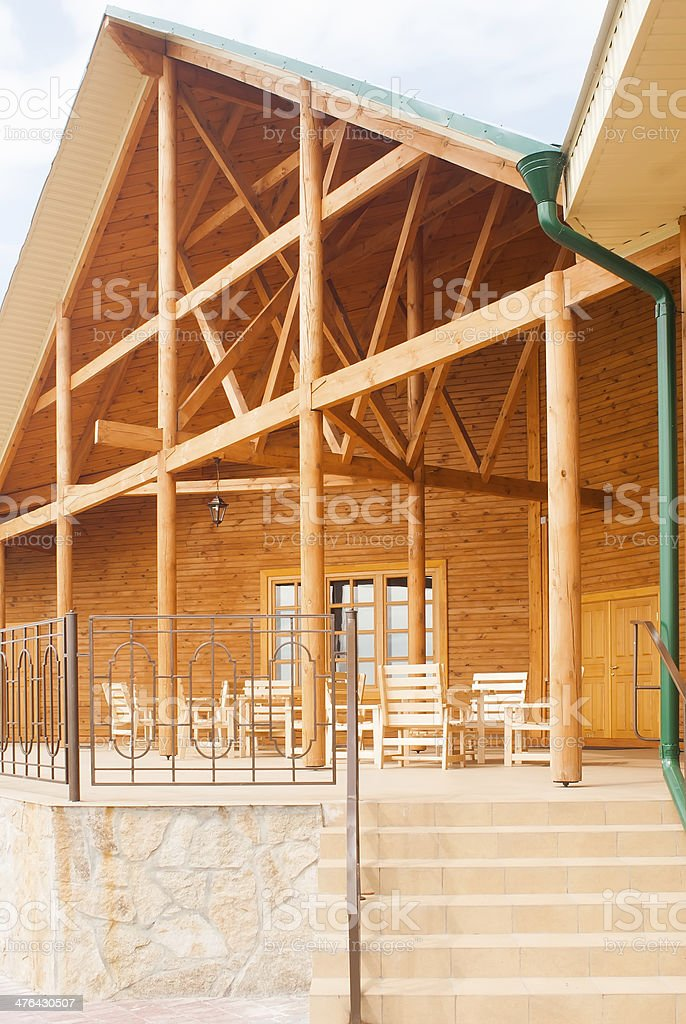 luxury wooden house royalty-free stock photo