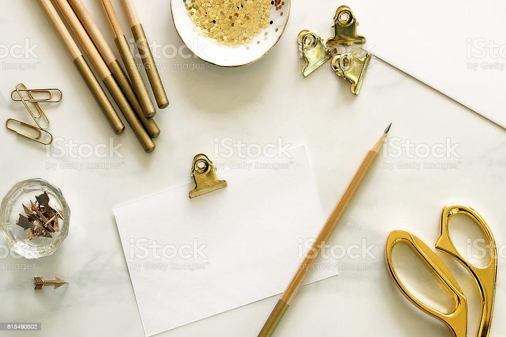 Luxury workspace stock photo