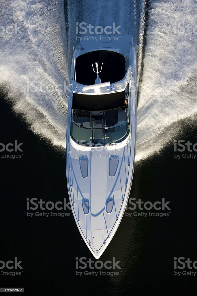 Luxury Yacht Aerial View royalty-free stock photo