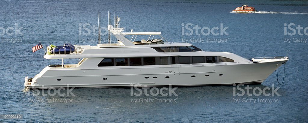 Luxury Yacht and Launch royalty-free stock photo