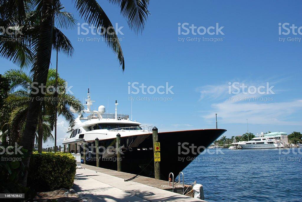Luxury Yacht at Dock royalty-free stock photo