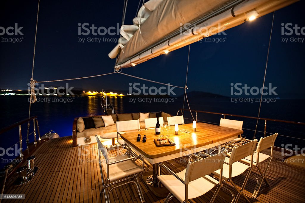 luxury yacht stock photo