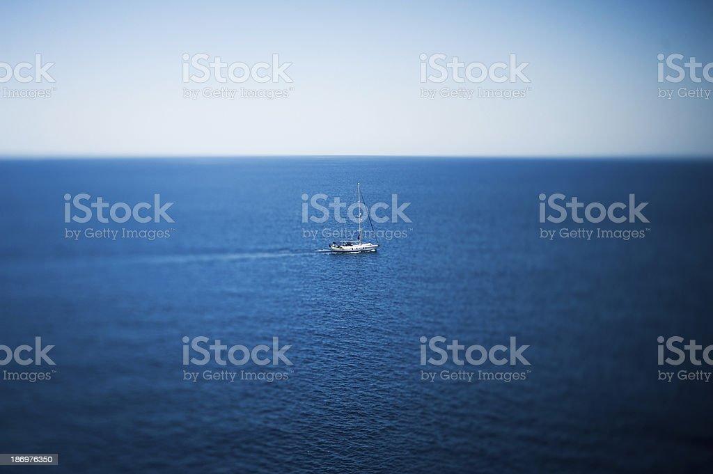 Luxury yacht sailing on the sea royalty-free stock photo