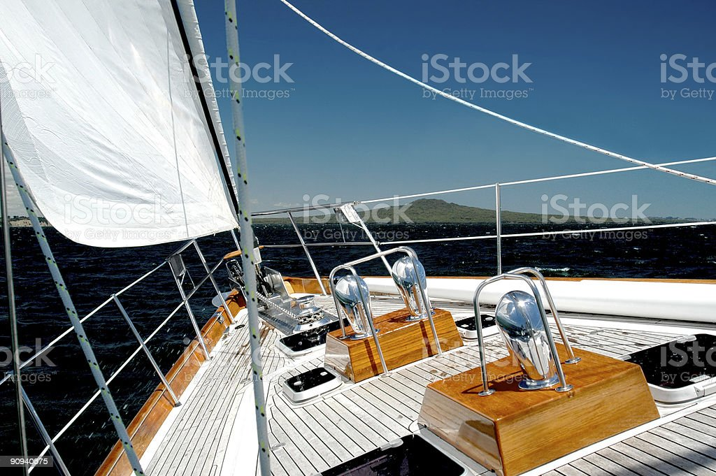 Luxury Yacht Under Sail royalty-free stock photo