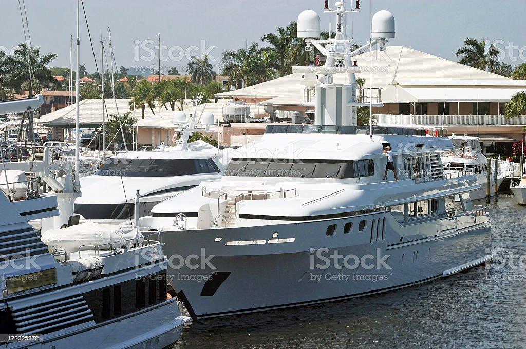 Luxury Yachts In Marina royalty-free stock photo