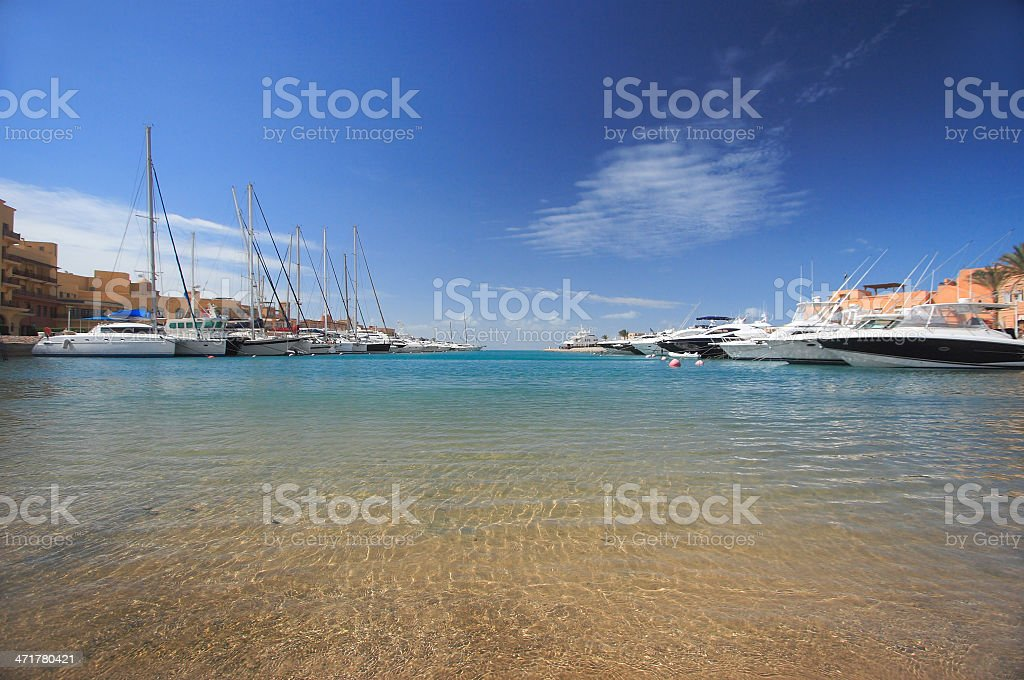 Luxury yachts royalty-free stock photo
