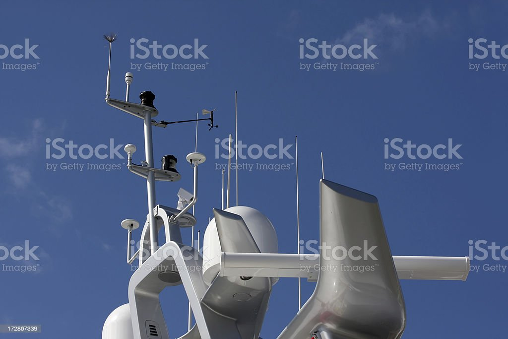 Luxury Yachts Superstructure royalty-free stock photo