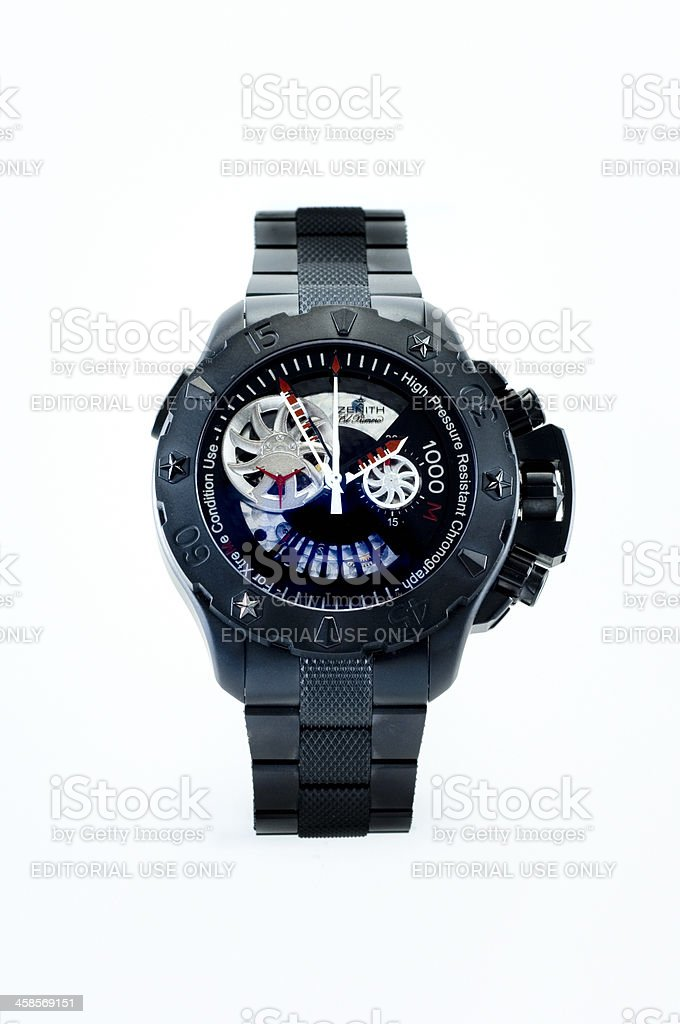 luxury Zenith wristwatch stock photo