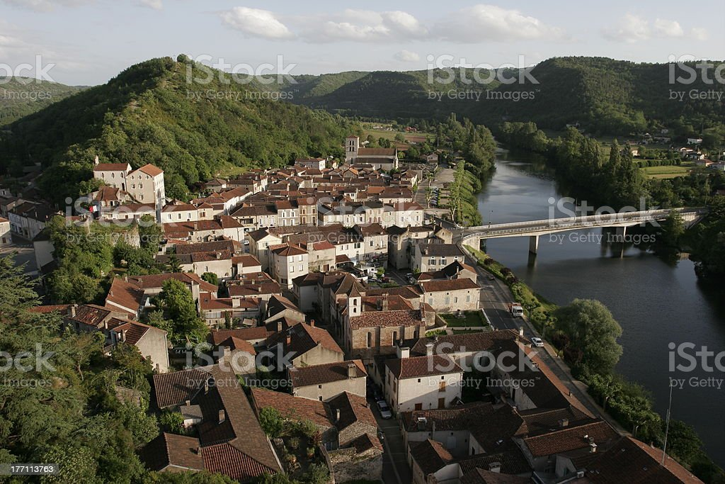 Luzech, Lot, France stock photo