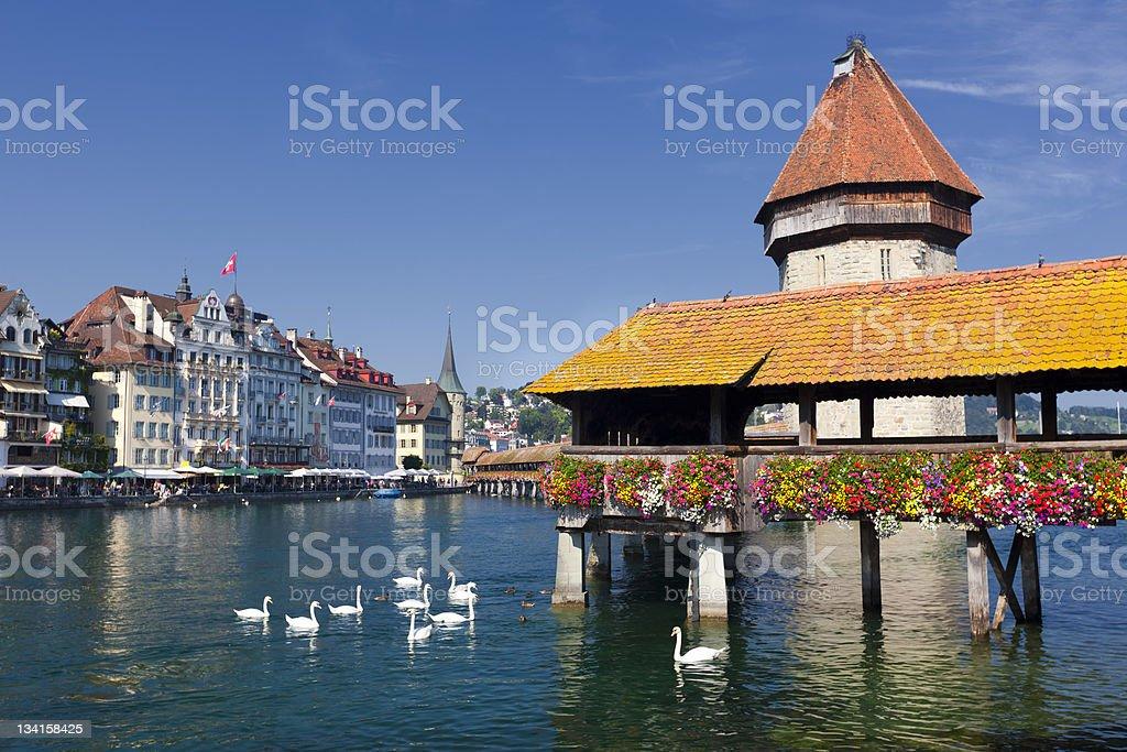 Luzern Kapellbr?cke stock photo