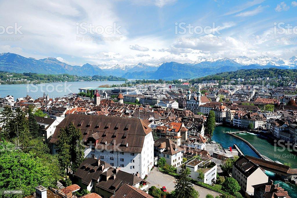 Luzern Panorama stock photo