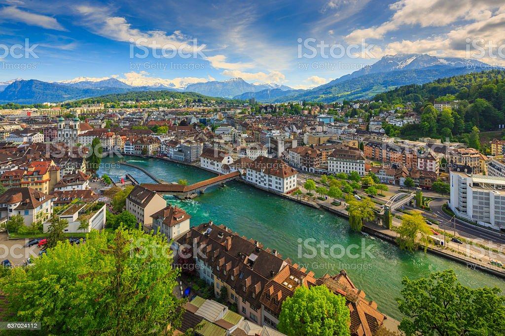 Luzern, Switzerland,top view stock photo