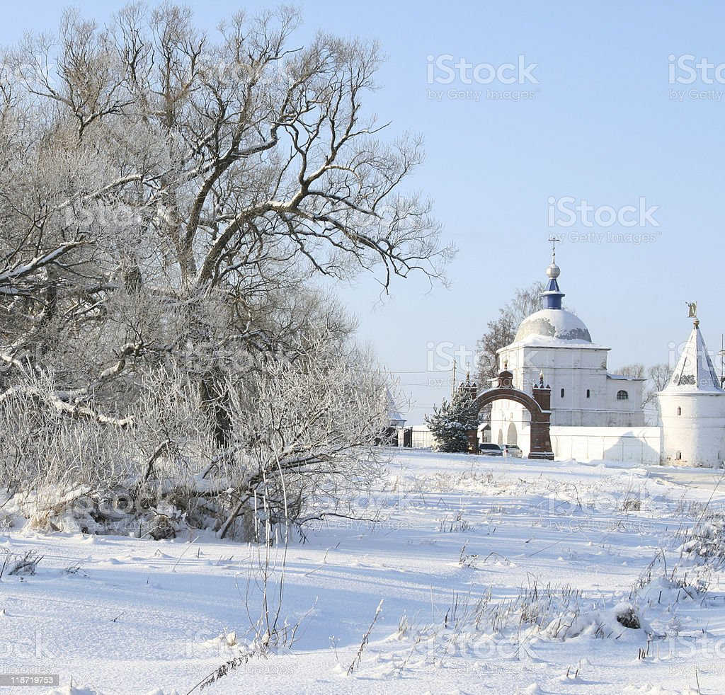 Luzhetsky Monastery royalty-free stock photo