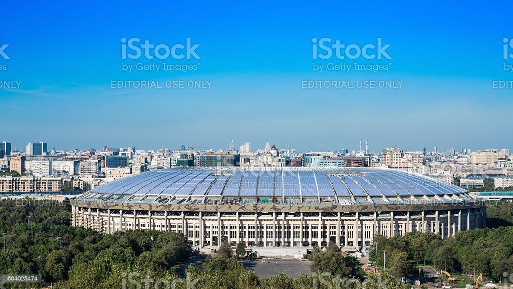 Luzhniki Stadium at Sparrow Hills stock photo