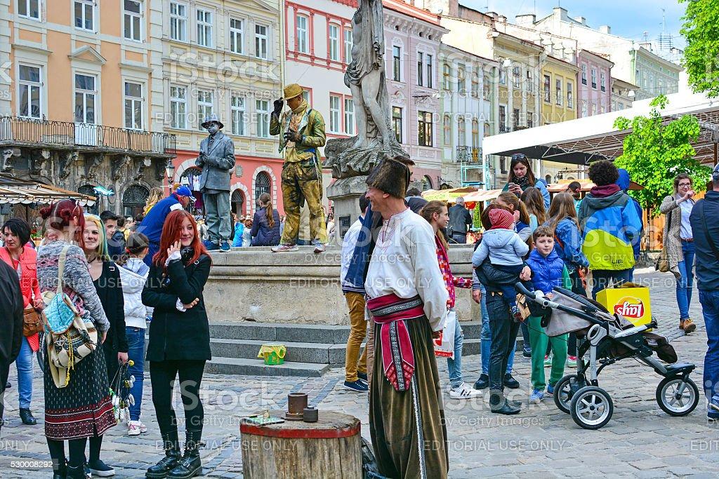 Lviv 760 Anniversary Celebration, city festival stock photo