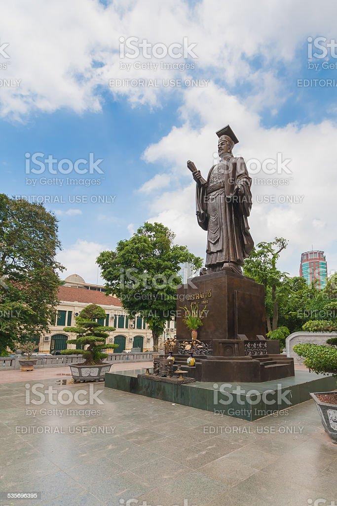 Ly Thai To statue in Hanoi, Vietnam. stock photo