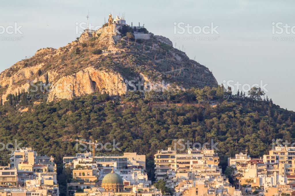 Lycabettus hill, Athens, Greece stock photo