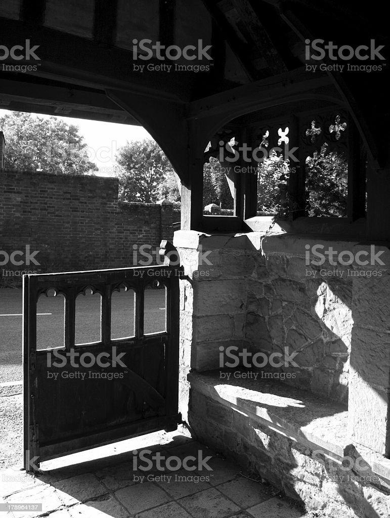 Lych Gate at Hever Parish Church stock photo