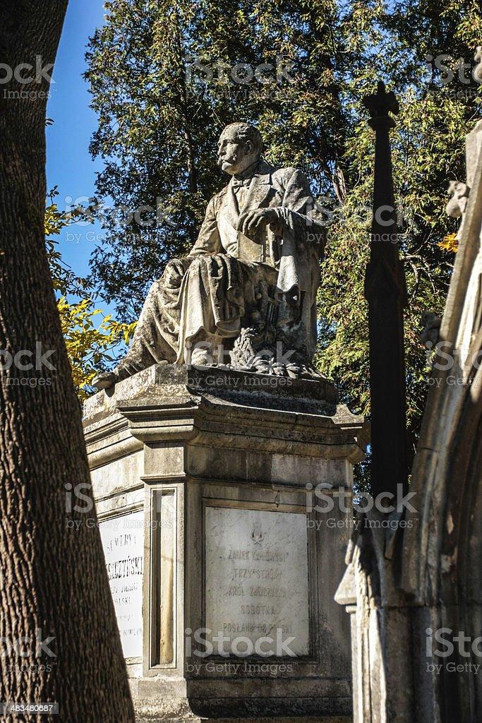 Lychakiv cemetery royalty-free stock photo