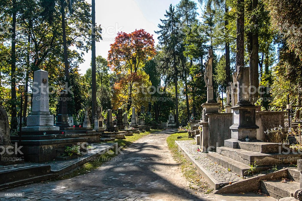 Lychakiv cemetery royalty-free stock photo