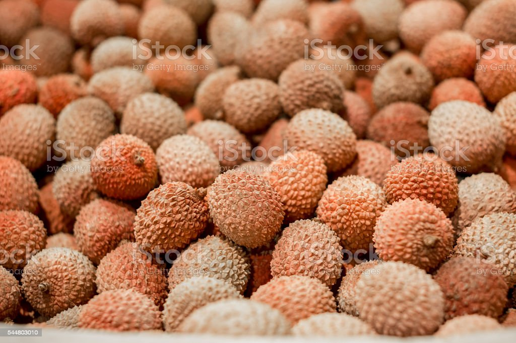 Lychee, AsianTropical fruit background stock photo