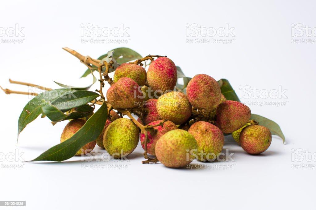 Lychee fruit bouquet on white background stock photo