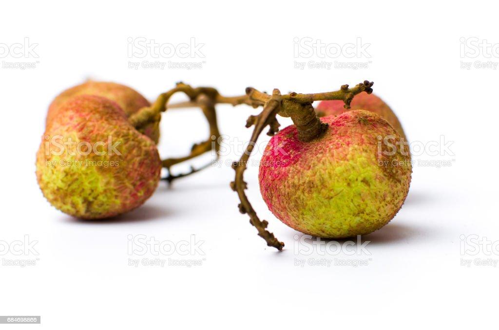Lychee fruit on white background isolated stock photo