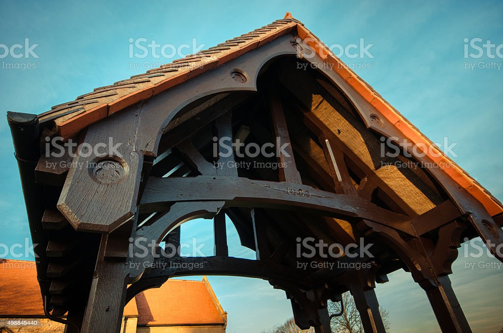 Lychgate to tradition stock photo