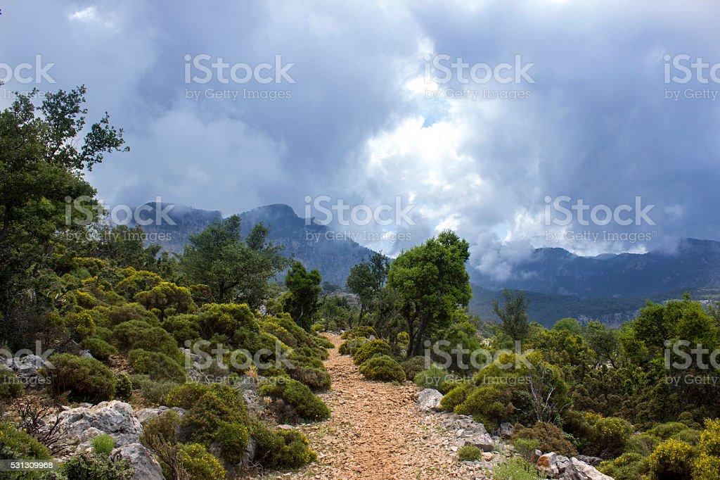 Lycian way from Fethiye to Antalya stock photo
