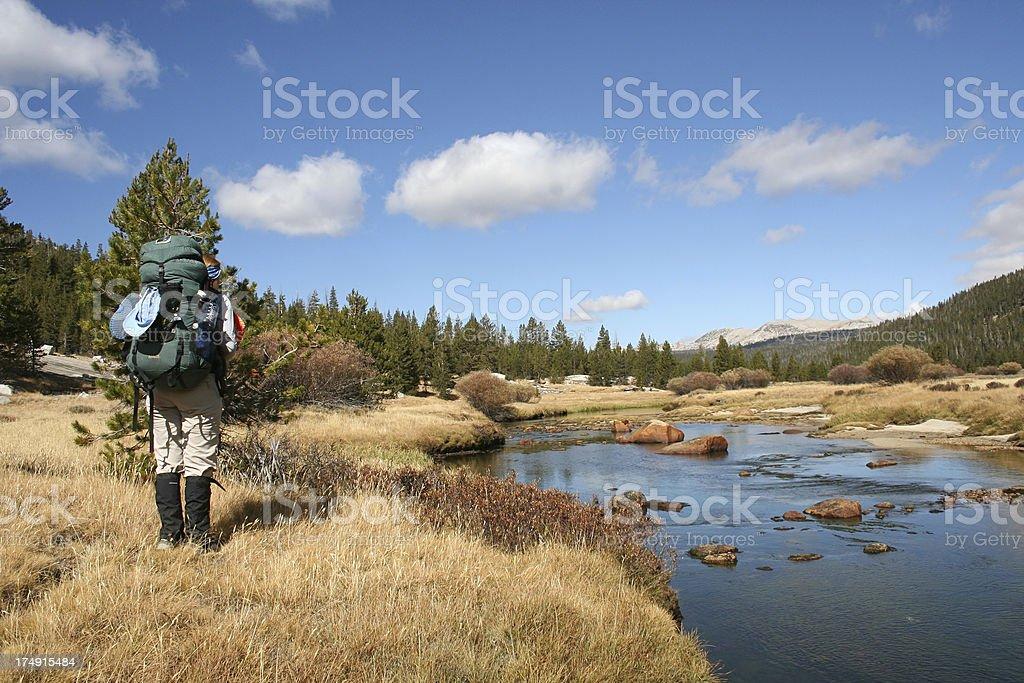 Lyell Canyon Backpacker royalty-free stock photo