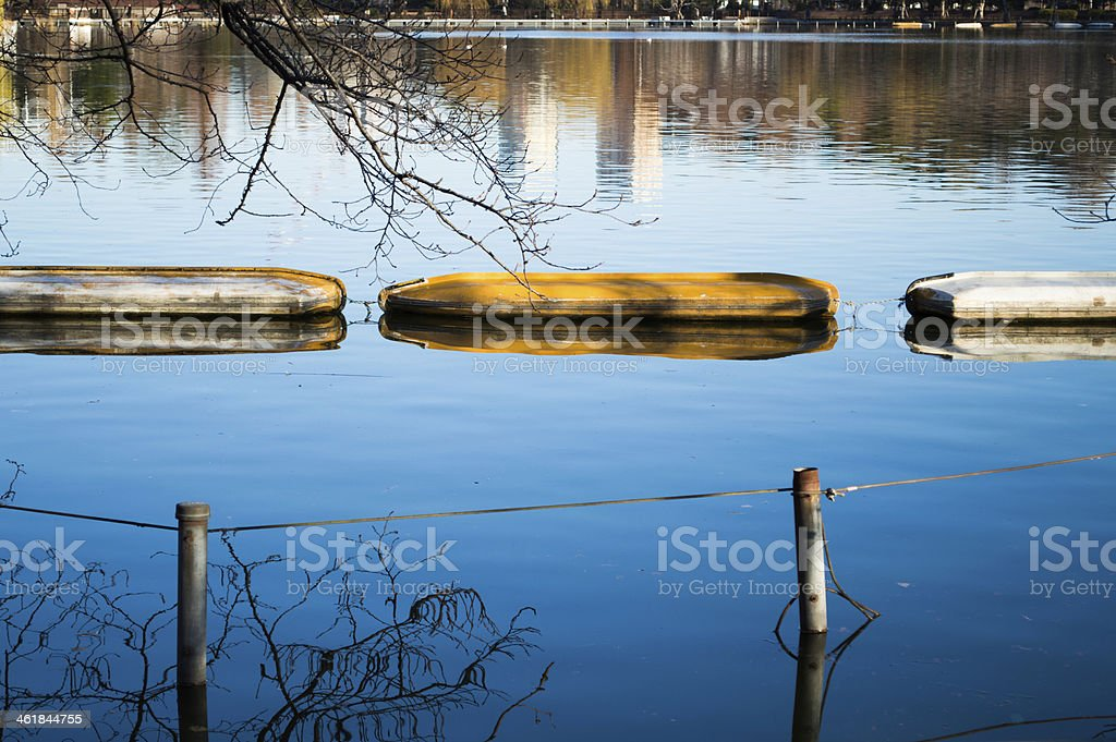 Lying boat. stock photo
