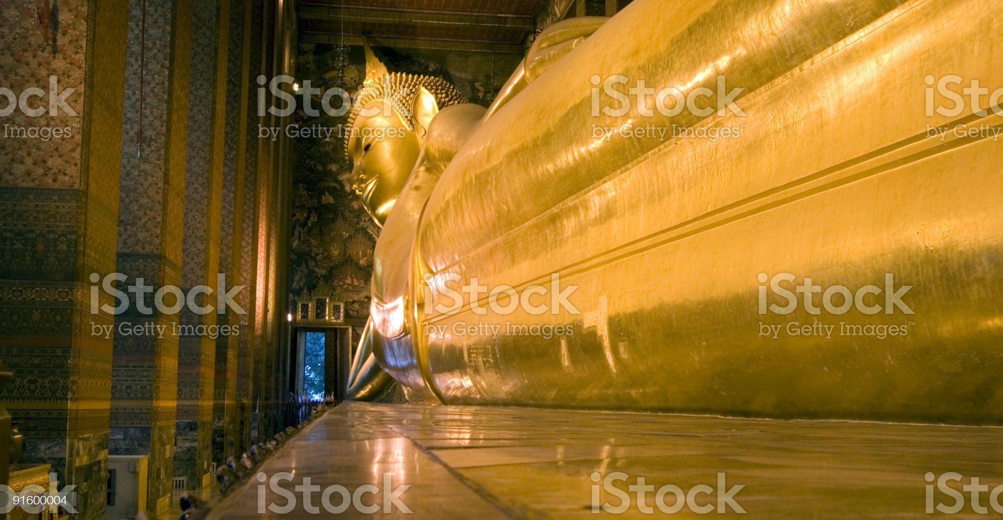 lying buddha royalty-free stock photo