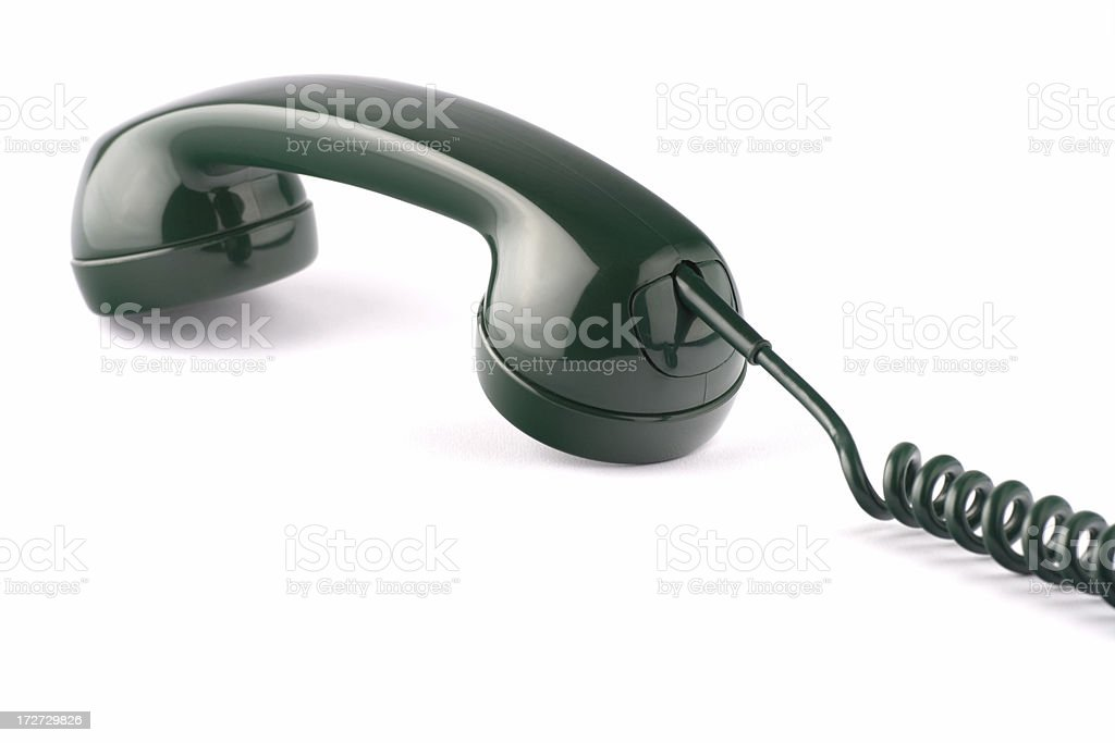 Lying handset stock photo
