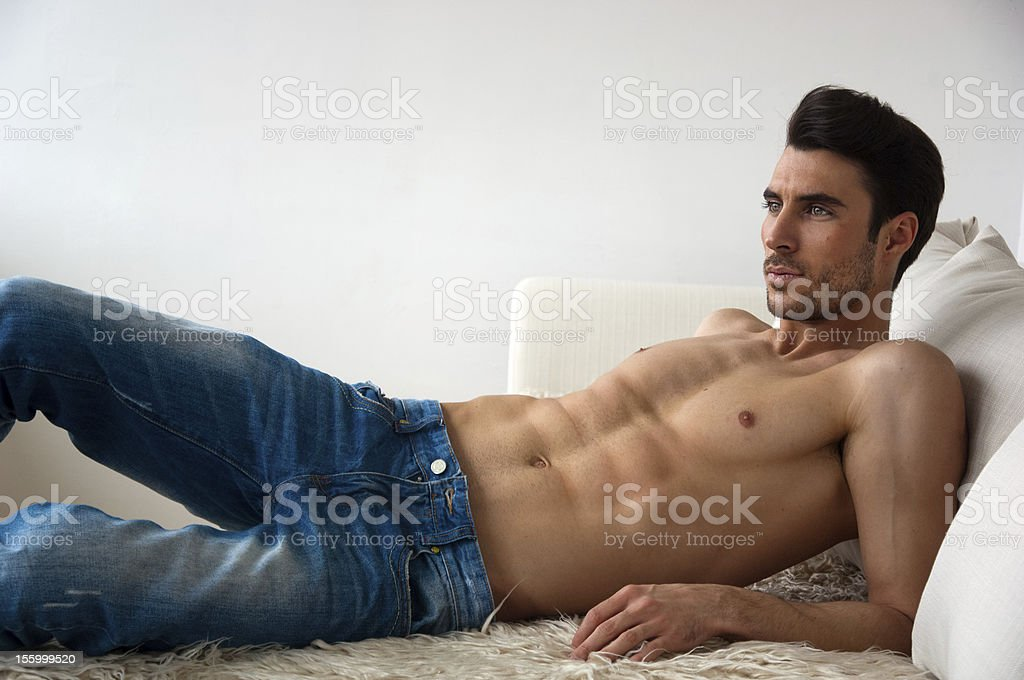lying in bed royalty-free stock photo