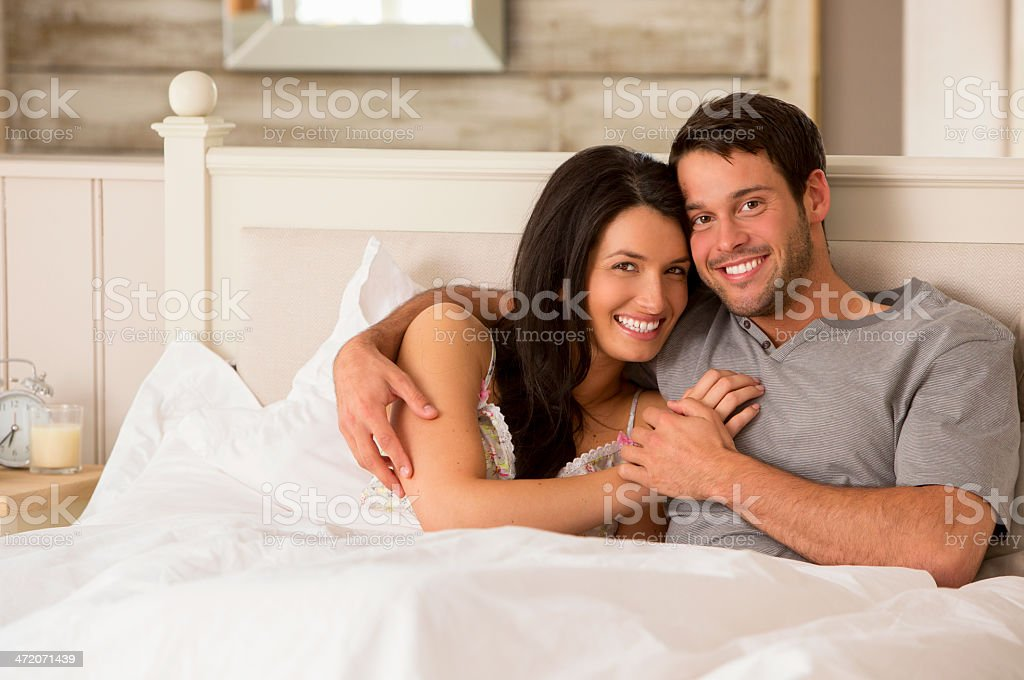 Lying in Bed Together royalty-free stock photo