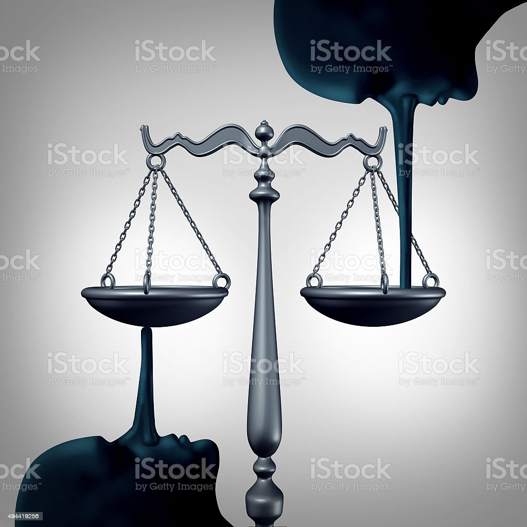 Lying Justice Concept stock photo