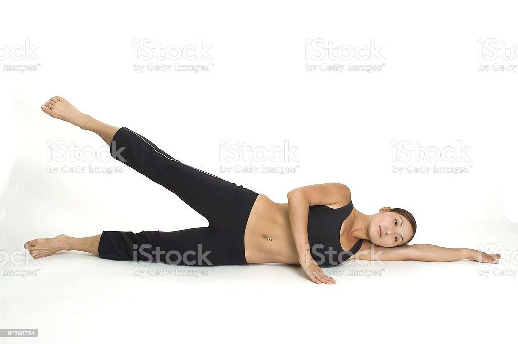Lying Side Leg Raise 2 royalty-free stock photo