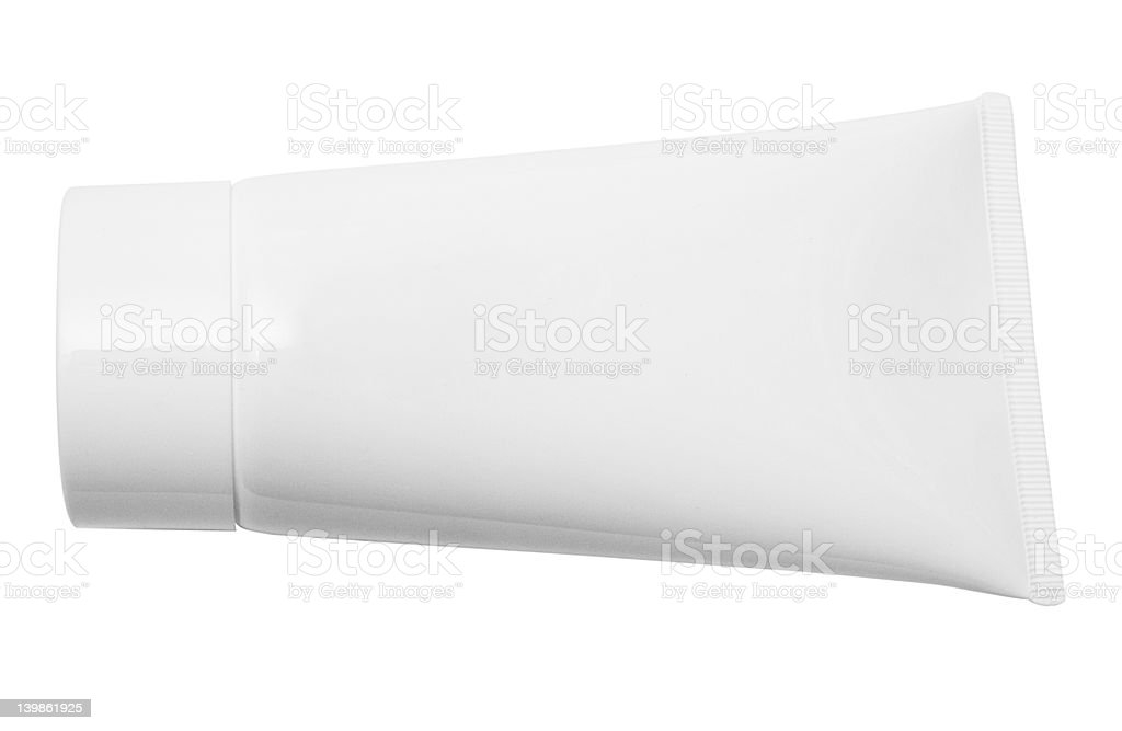 Lying White Tube w/Path royalty-free stock photo