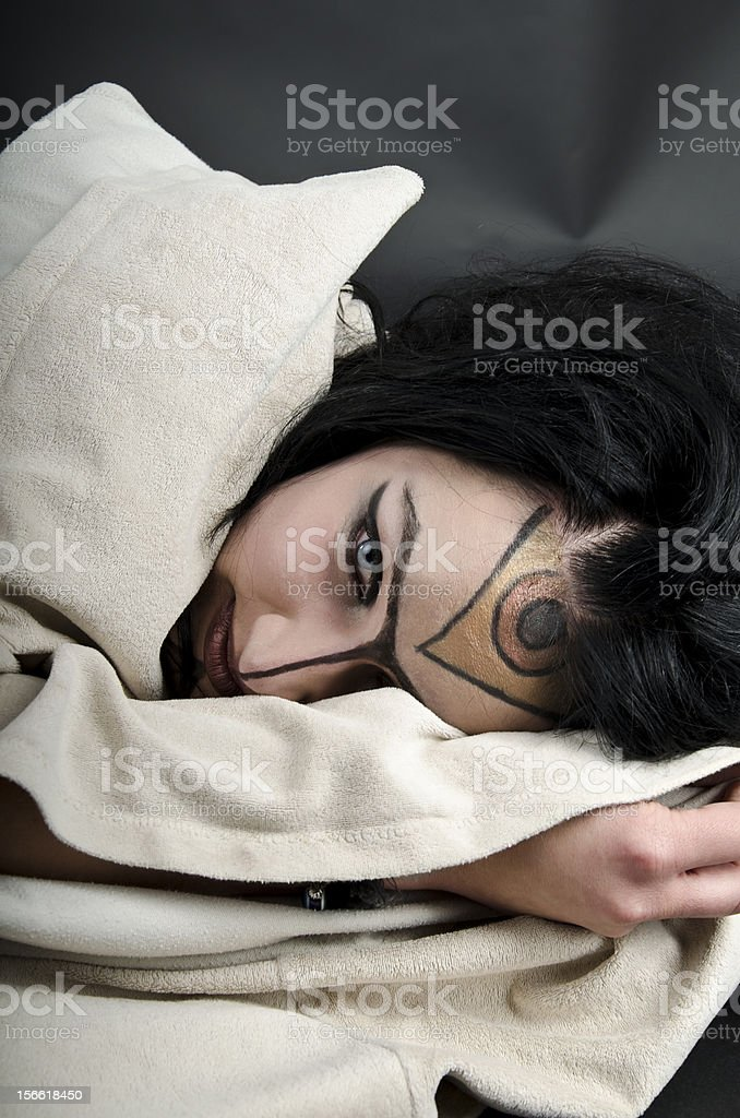 Lying Witch / Priestess royalty-free stock photo