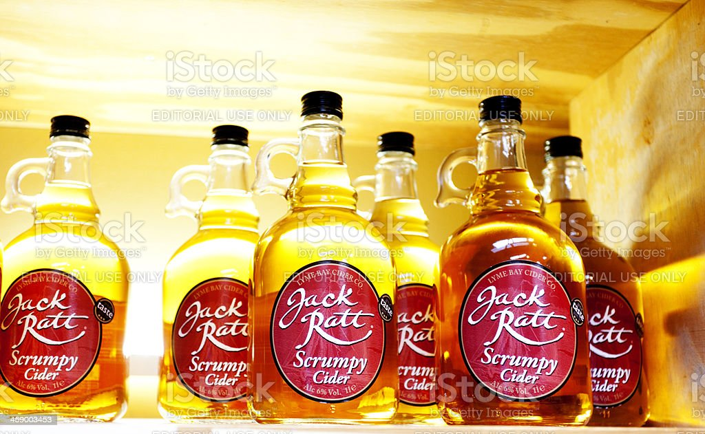 Lyme Bay Winery scrumpy cider royalty-free stock photo