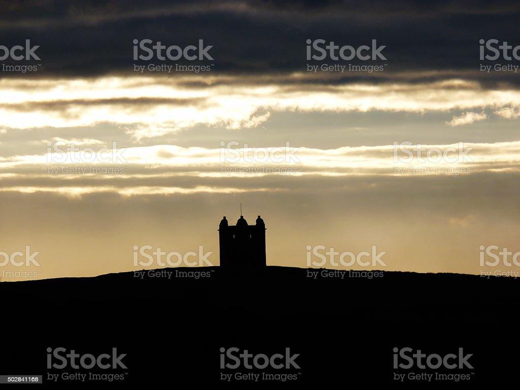 lyme park cage cheshire sunset stock photo